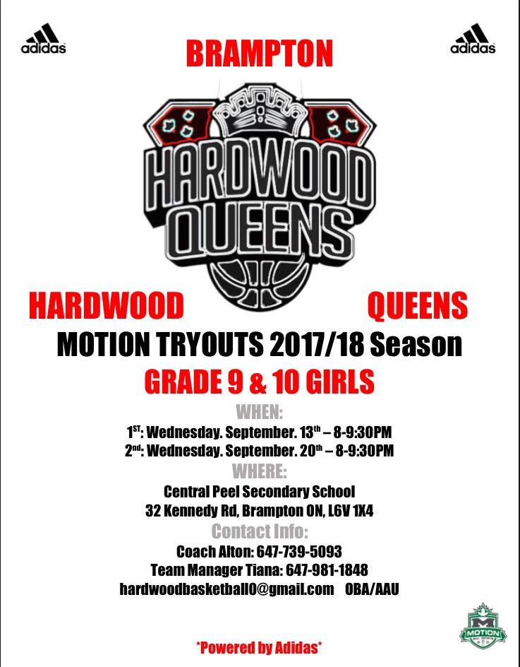 Brampton Hardwood Queens Tryout Grade 9&10 Girls Grade_10