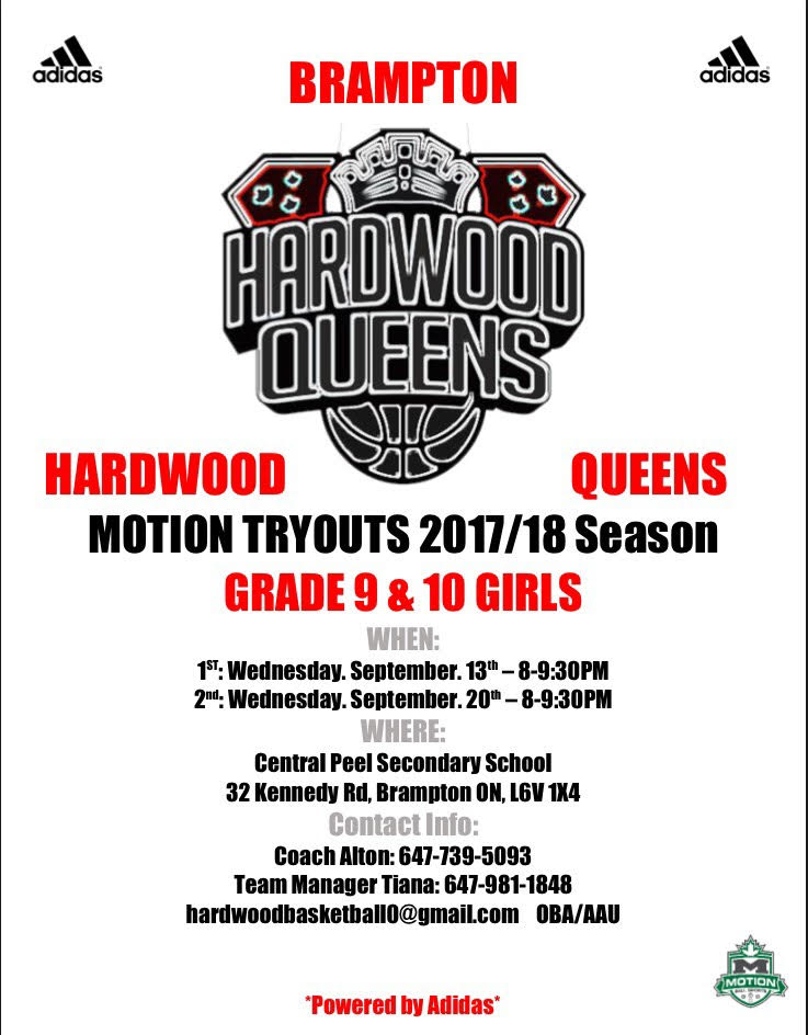 Brampton Hardwood Queens Tryout Grade 9&10 Girls Grade_11