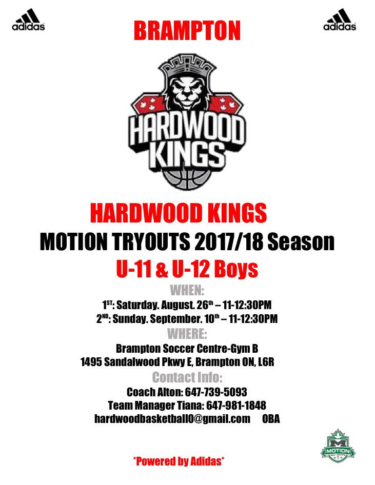Brampton Hardwood Kings Tryouts U-11 & U-12 U11_u110