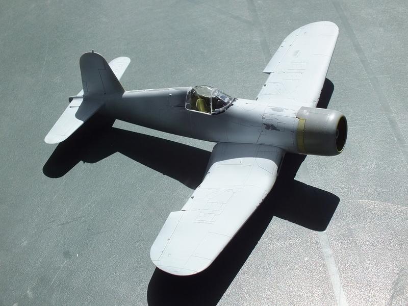 Corsair F4AU-1A 1/48 Tamiya réf.61070 décoration spécifique à mon pseudo............ Dscf1510