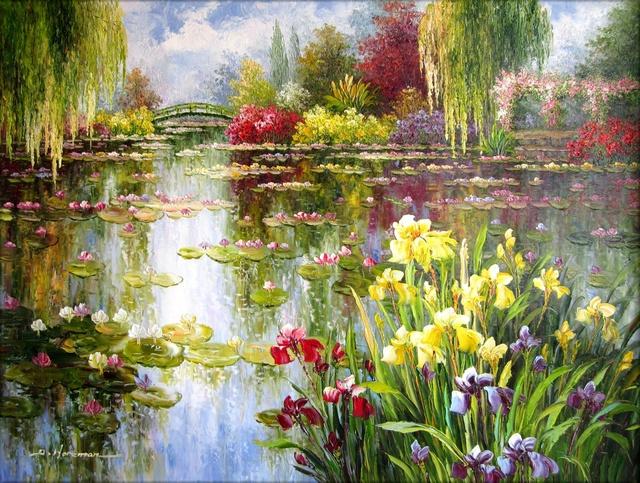 Pour semer des fleurs dans le coeur ... - Page 2 Monet10