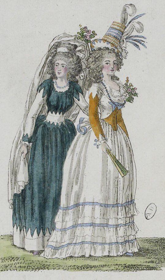 robes XVIIIe: styles, couleurs et matières  97dcd110