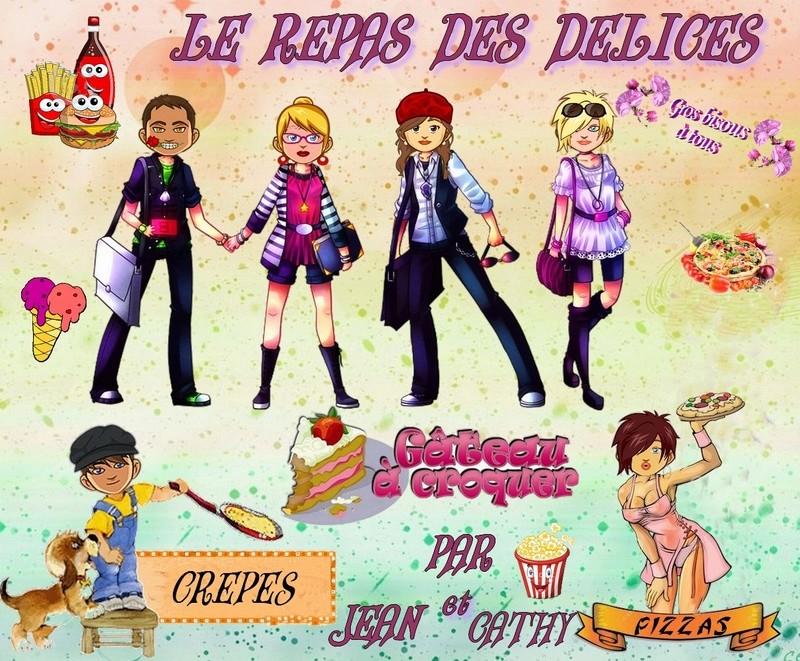 LE REPAS DES DELICES PAR JEAN ET CATHY Lerepa11