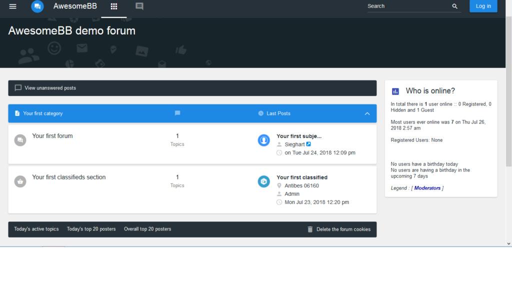 ModernBB - Forum versions  Awesom11