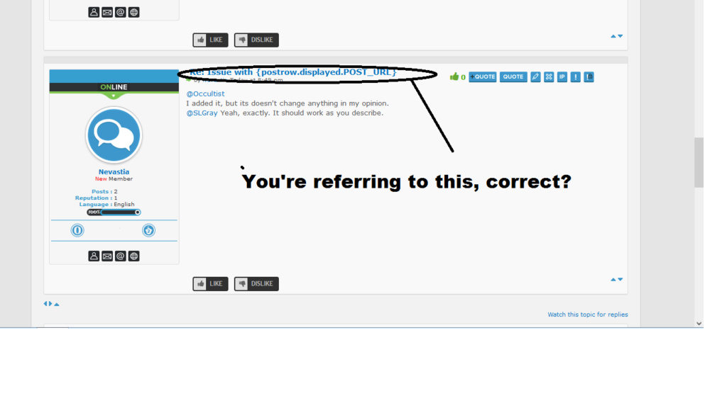 Issue with {postrow.displayed.POST_URL} Correc12