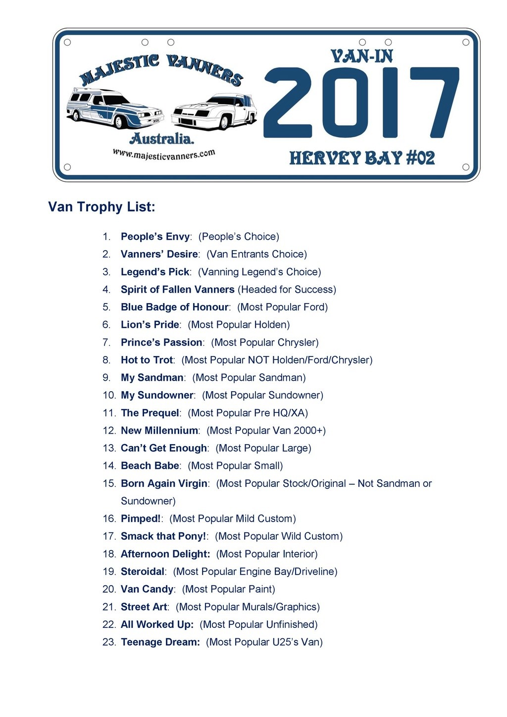 2017 Van-In #06 Albury/Wodonga; #02 Hervey Bay: 29th September to 2nd October. - Page 2 2017_v14