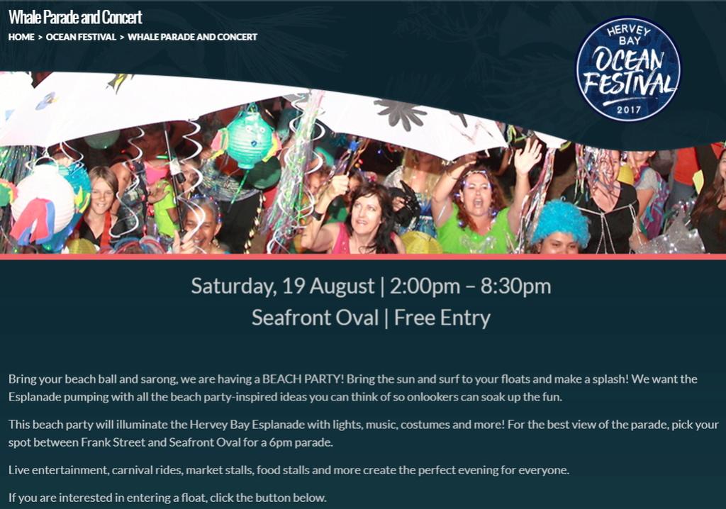 Hervey Bay Ocean Festival, Whale Parade - Saturday 19/08/2017. Whale_10