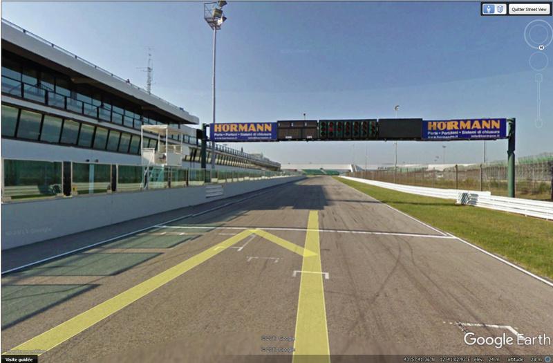 Roulez sur les circuits automobile et moto avec Street View Misano10