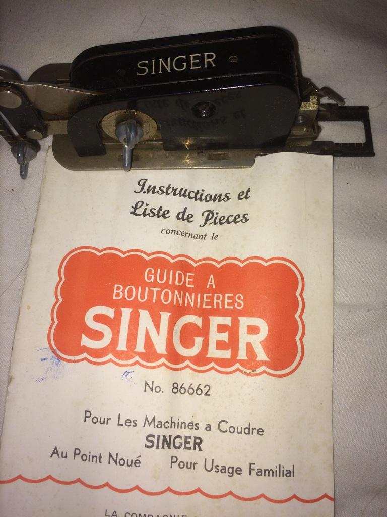 Singer Guide à Boutonnières 86662 Notice10