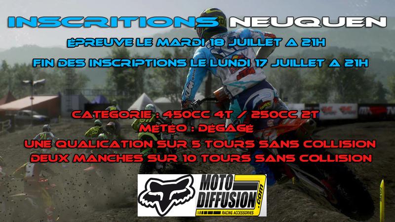 INSCRIPTION A LA 1ERE EPREUVE DU CHAMPIONNAT MOTO DIFFUSION : NEUQUEN LE 18 JUILLET 2017 Neuque10