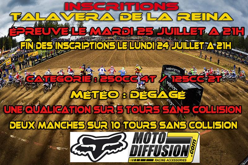 INSCRIPTION A LA 3 EME EPREUVE DU CHAMPIONNAT MOTO DIFFUSION : TALAVERA DE LA REINA LE 25 JUILLET 2017 Talave10