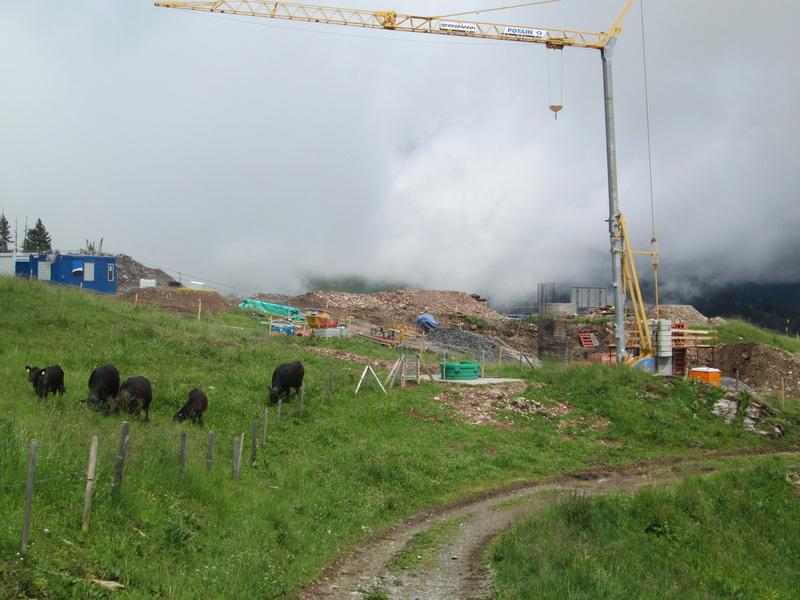 Construction du télésiège débrayable 4 places Le Fer-Brion-Tête d'Ai à Leysin VD Suisse (TSD4) Img_2016