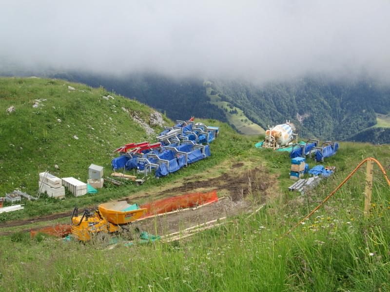Construction du télésiège débrayable 4 places Le Fer-Brion-Tête d'Ai à Leysin VD Suisse (TSD4) Img_2020