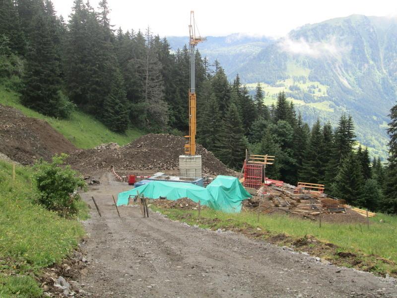 Construction du télésiège débrayable 4 places Le Fer-Brion-Tête d'Ai à Leysin VD Suisse (TSD4) Img_2022