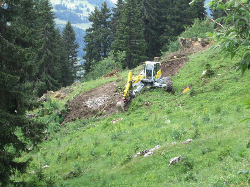 Construction du télésiège débrayable 4 places Le Fer-Brion-Tête d'Ai à Leysin VD Suisse (TSD4) Img_2028