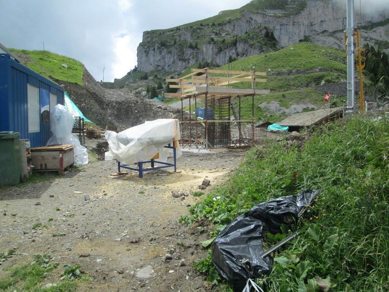 Construction du télésiège débrayable 4 places Le Fer-Brion-Tête d'Ai à Leysin VD Suisse (TSD4) Img_2029