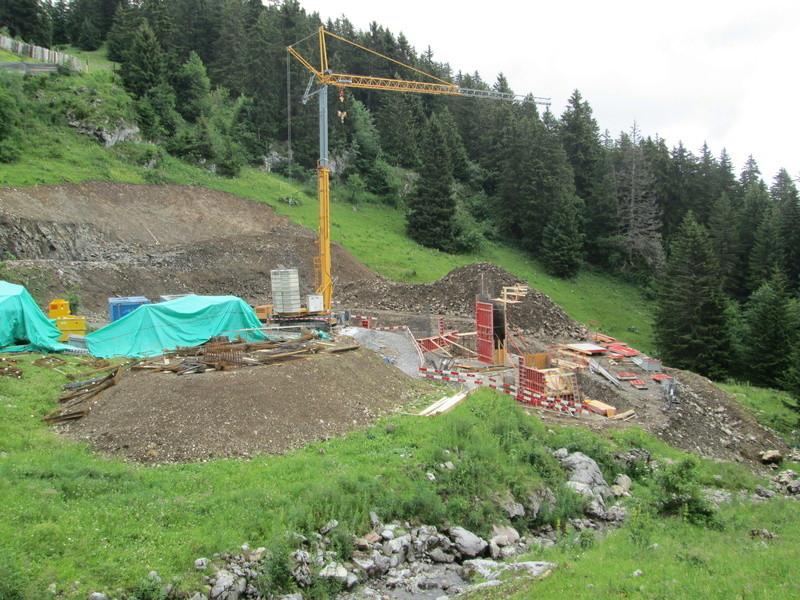 Construction du télésiège débrayable 4 places Le Fer-Brion-Tête d'Ai à Leysin VD Suisse (TSD4) Img_2030