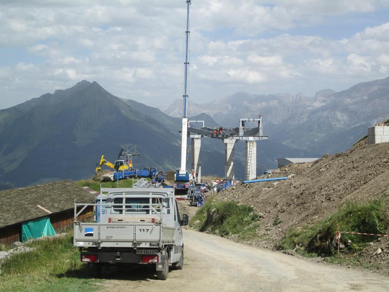 Construction du télésiège débrayable 4 places Le Fer-Brion-Tête d'Ai à Leysin VD Suisse (TSD4) Img_2039