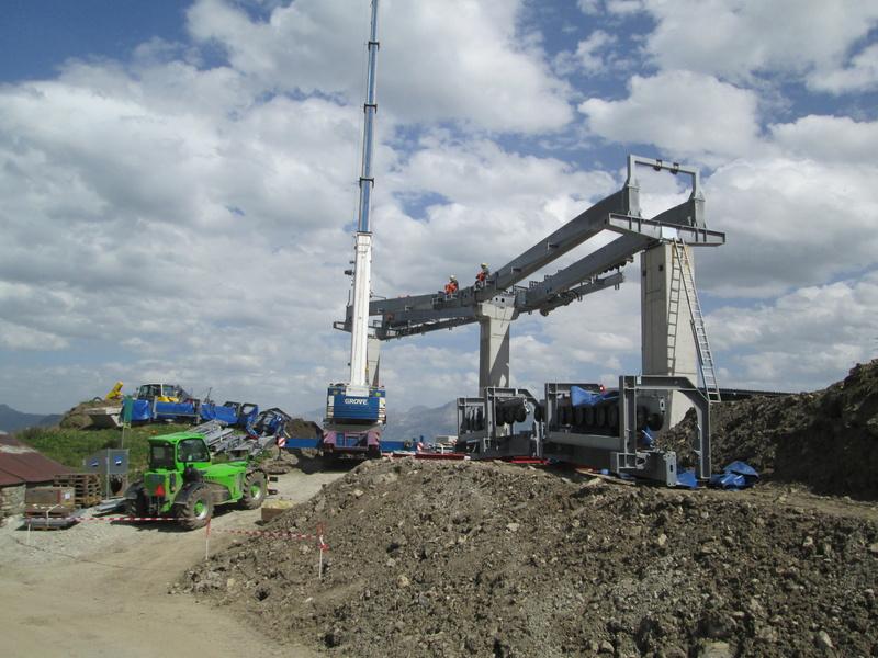 Construction du télésiège débrayable 4 places Le Fer-Brion-Tête d'Ai à Leysin VD Suisse (TSD4) Img_2042