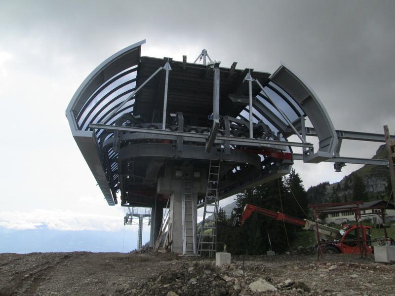 Construction du télésiège débrayable 4 places Le Fer-Brion-Tête d'Ai à Leysin VD Suisse (TSD4) Img_2048