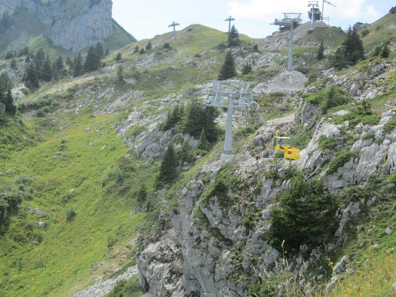 Construction du télésiège débrayable 4 places Le Fer-Brion-Tête d'Ai à Leysin VD Suisse (TSD4) Img_2067