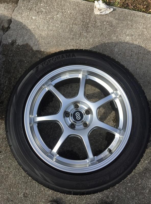 Enkei 17x7 w/ new Yokohama 215/55/17 tires Img_3626