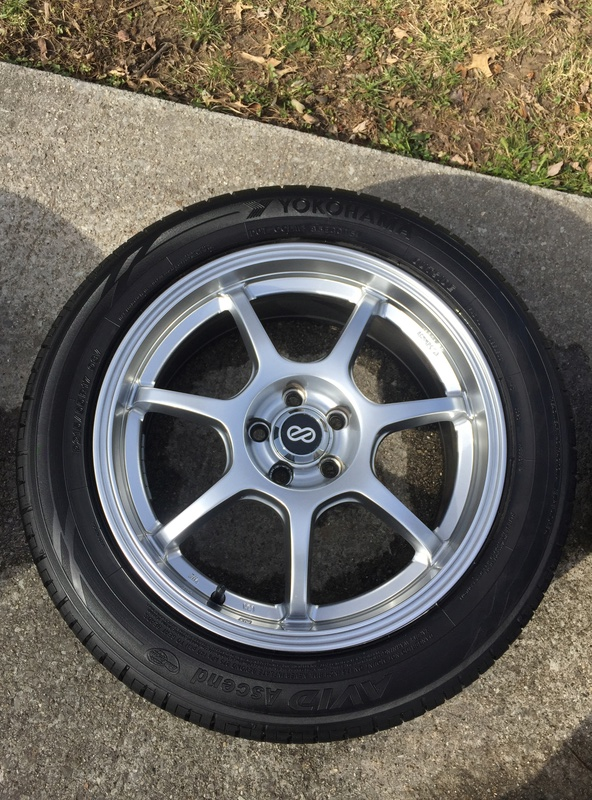 Enkei 17x7 w/ new Yokohama 215/55/17 tires Img_3627
