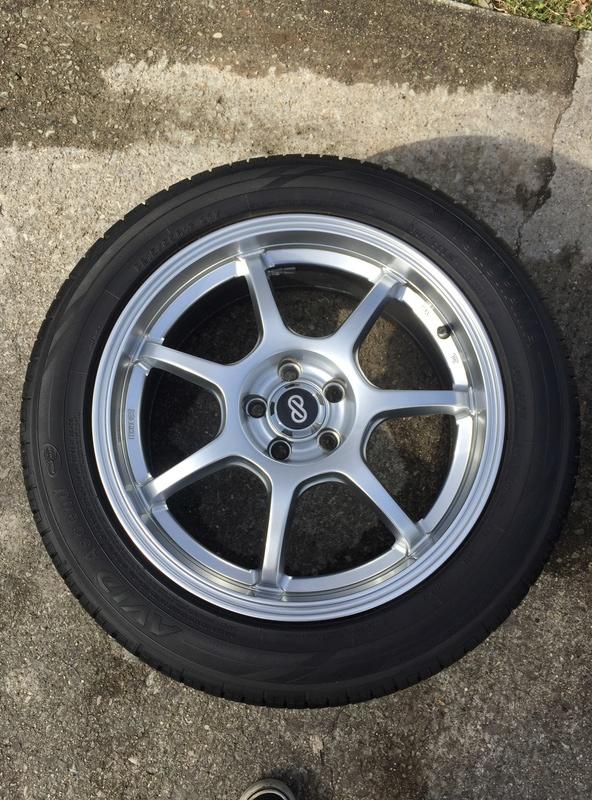 Enkei 17x7 w/ new Yokohama 215/55/17 tires Img_3630