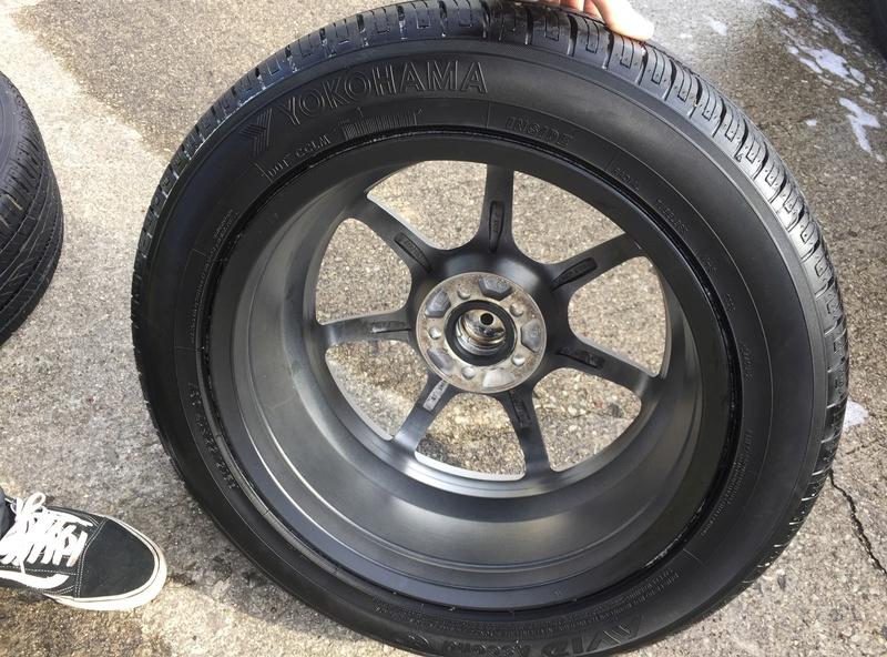 Enkei 17x7 w/ new Yokohama 215/55/17 tires Img_3634