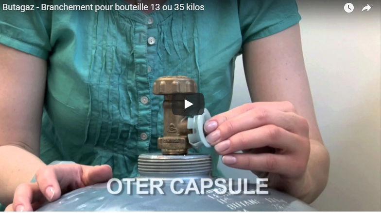 bouteille butane (finagaz bleu foncé 13kg) - comment enlever le capuchon blanc ? Captur21