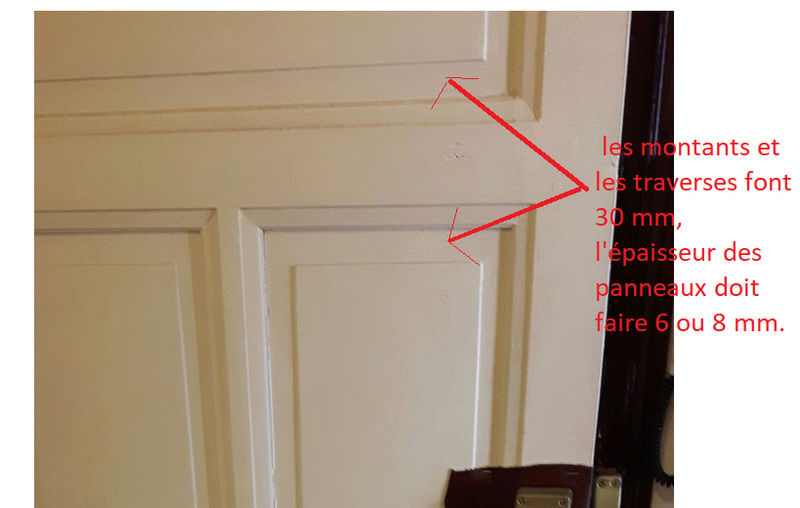 Renforcement d'une porte en chêne d'appartement Sans_t10
