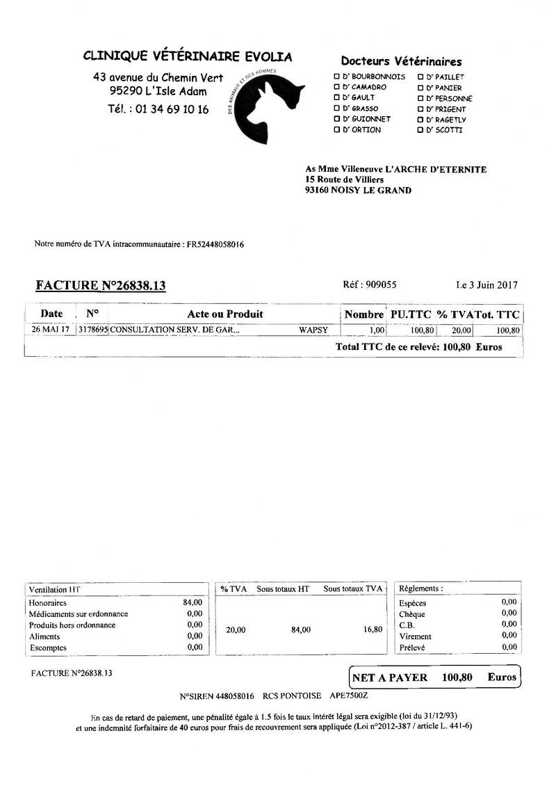 4 434.03 EUROS DE FACTURES A PAYER POUR NOTRE PAUVRE WAPSY Factur10