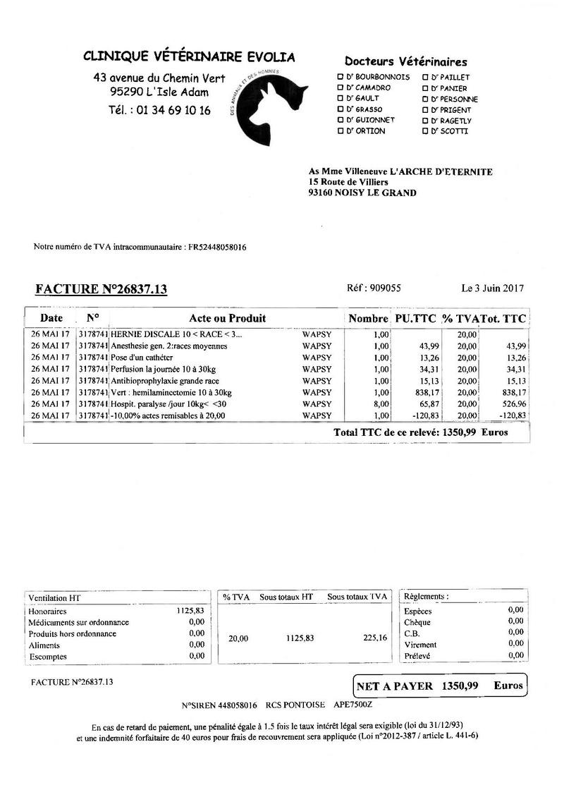 4 434.03 EUROS DE FACTURES A PAYER POUR NOTRE PAUVRE WAPSY Factur13