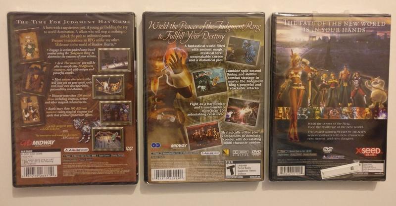 FS] Cosmic Fantasy 2 (TG16) / Shadow Hearts Triology (PS2