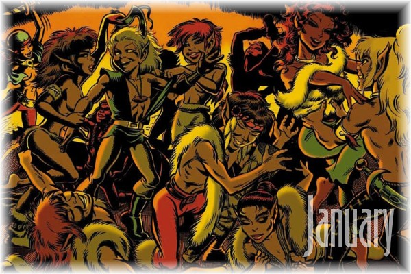 An ElfQuest Birthday Calendar Cal-0110