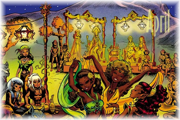 An ElfQuest Birthday Calendar Cal-0410