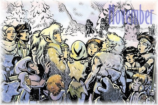 An ElfQuest Birthday Calendar Cal-1110