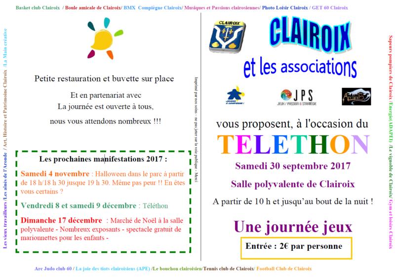 Téléthon - Clairoix - 30 septembre 2017 Clairo11