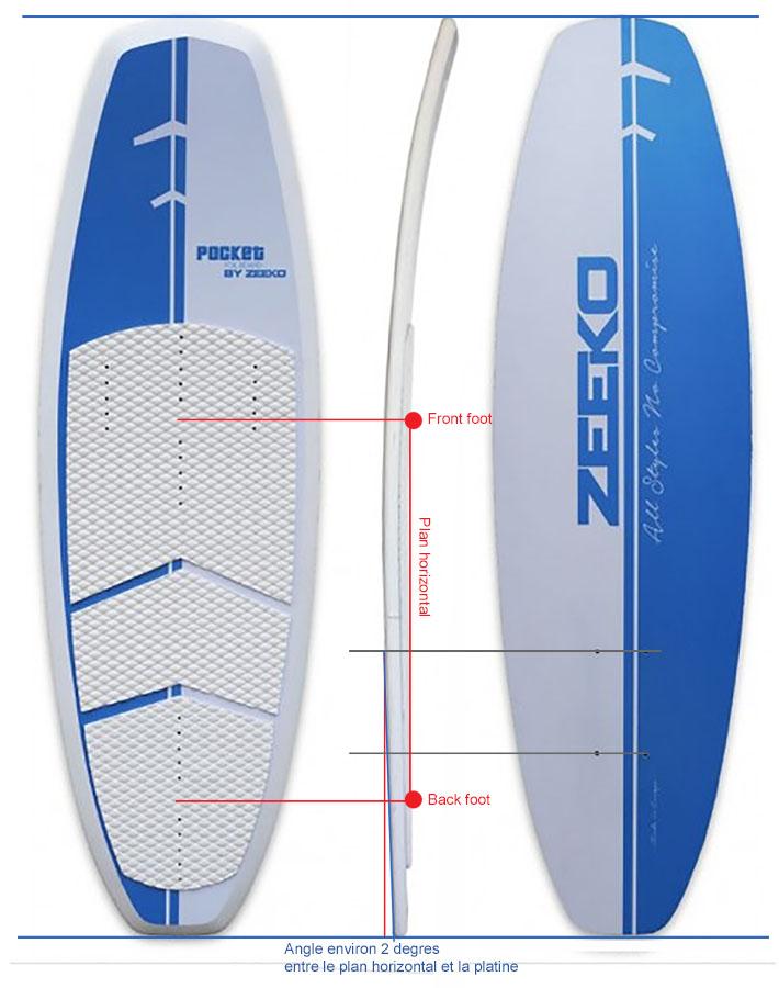 Angle platine/carene pour adaptation foil alu sur flotteur modifie Anglep11