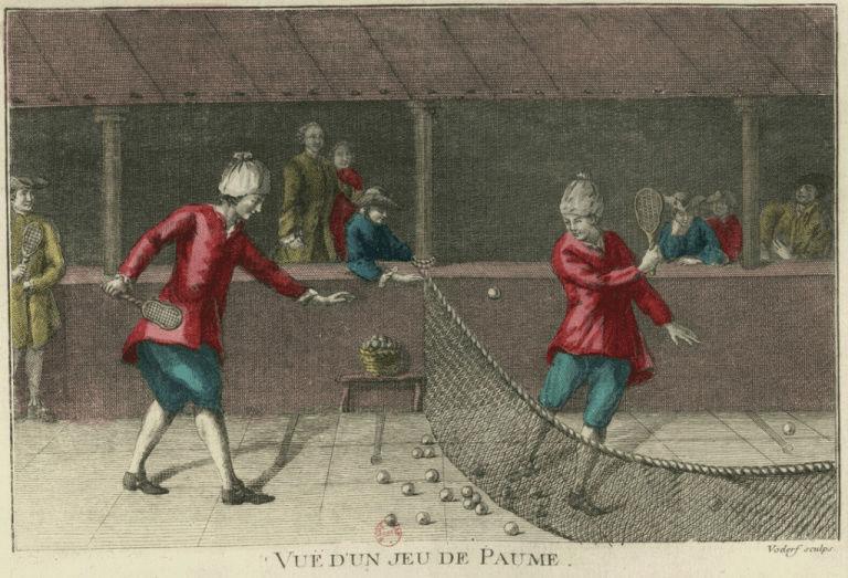 Salles de jeu de paume au XVIIIè siècle Estamp10