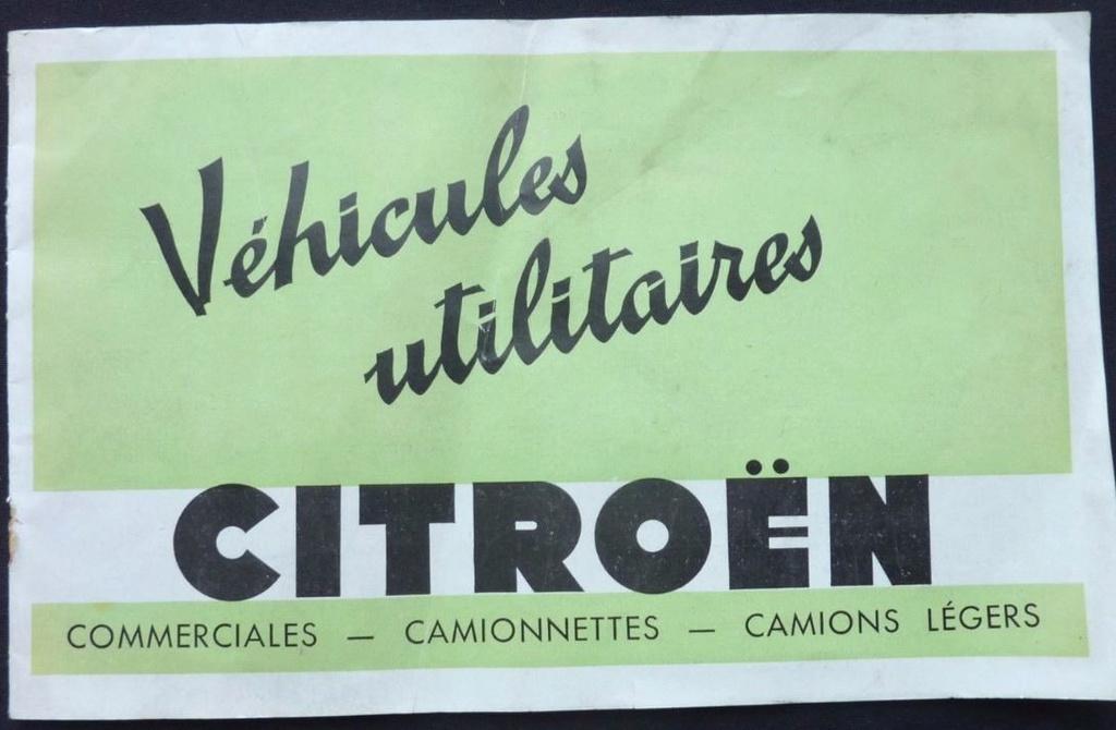 """Brochure """"Utilitaires Citroën"""" 1937 1127"""