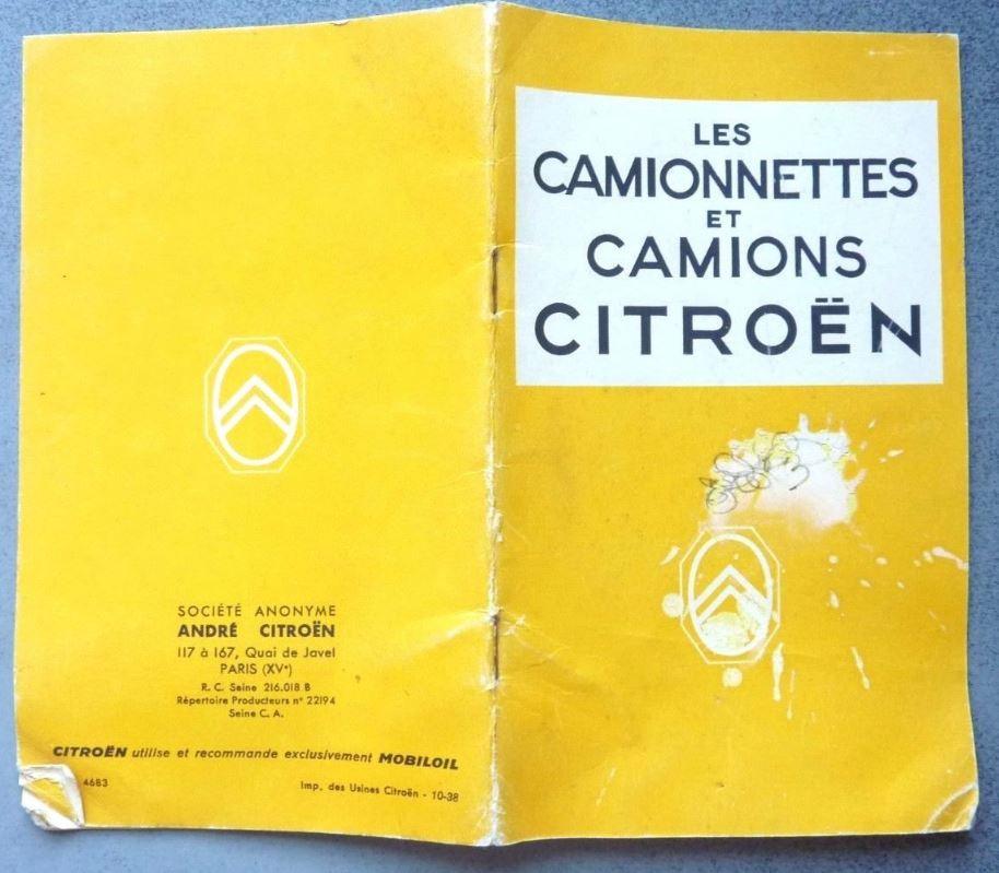 """Brochure """"Utilitaires Citroën"""" 1938 1128"""