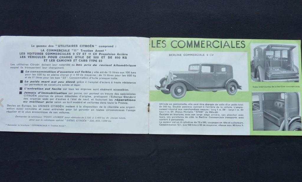 """Brochure """"Utilitaires Citroën"""" 1937 284"""