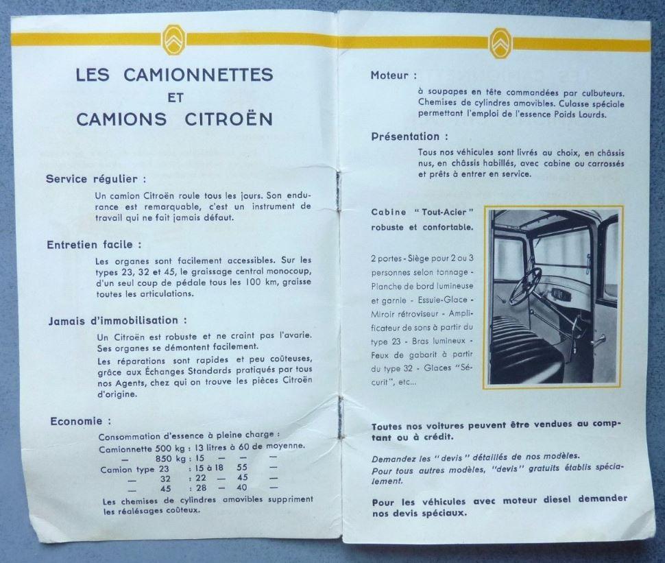 """Brochure """"Utilitaires Citroën"""" 1938 285"""