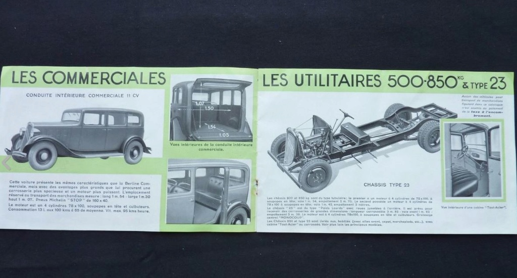"""Brochure """"Utilitaires Citroën"""" 1937 379"""