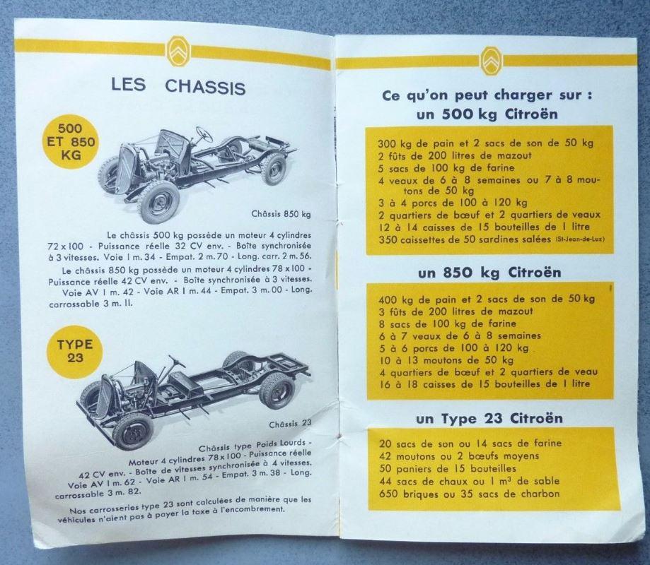 """Brochure """"Utilitaires Citroën"""" 1938 380"""