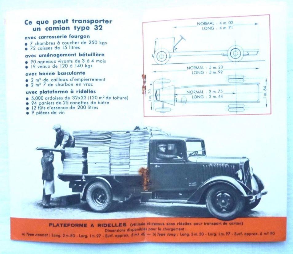 """Brochure """"Les poids Lourds Citroën type 32"""" de 1926 381"""