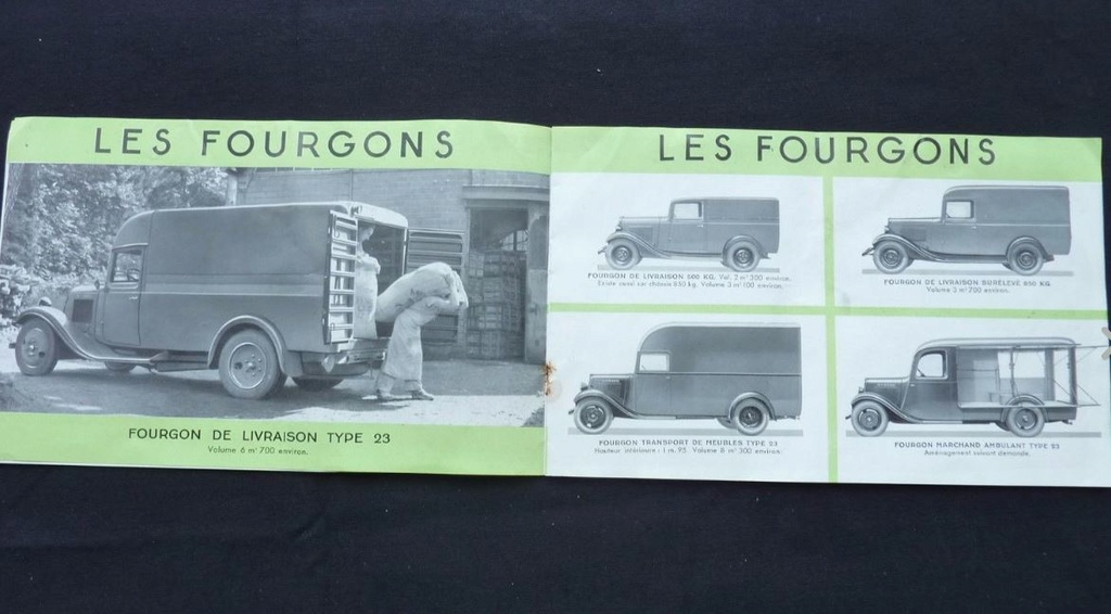 """Brochure """"Utilitaires Citroën"""" 1937 451"""