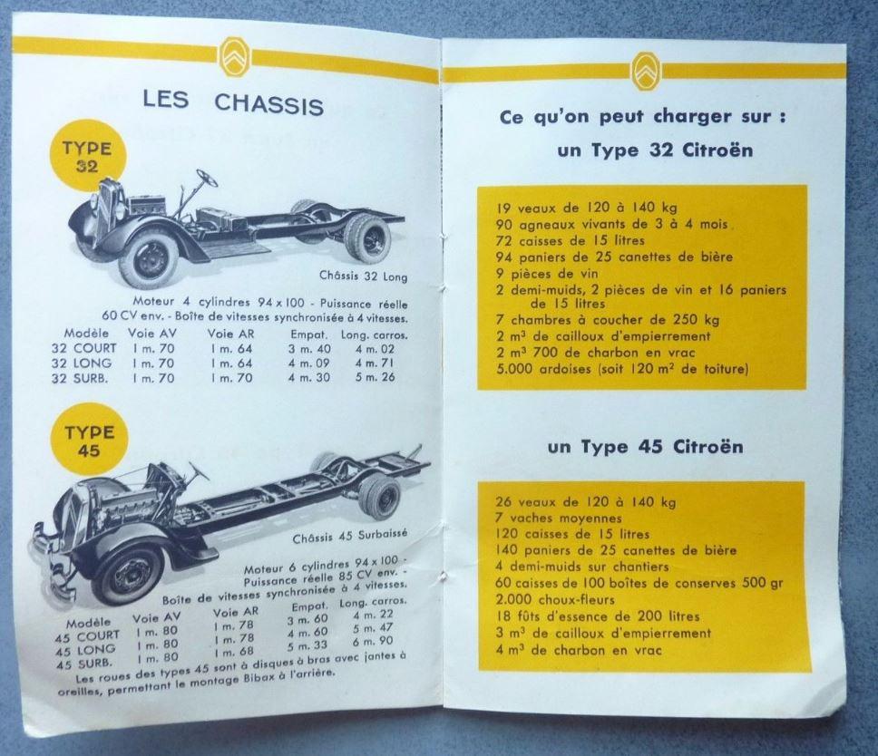 """Brochure """"Utilitaires Citroën"""" 1938 452"""