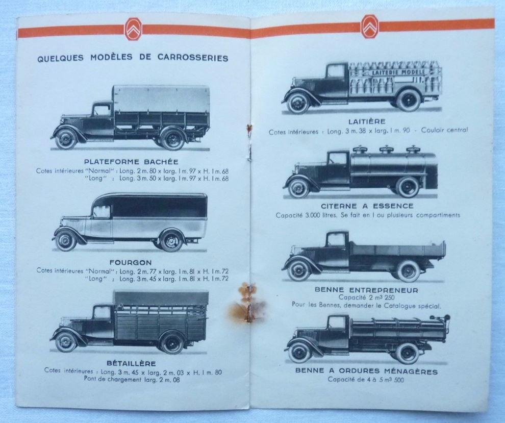 """Brochure """"Les poids Lourds Citroën type 32"""" de 1926 453"""